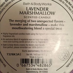 bath and body works Accents - Lavender Marshmallow 3-wick candle